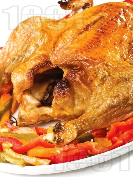 Печено пиле с мед и портокал - снимка на рецептата